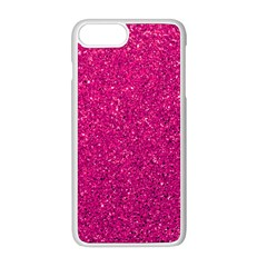 Hot Pink Glitter Apple Iphone 8 Plus Seamless Case (white)
