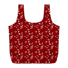 Red White Music Full Print Recycle Bag (l) by snowwhitegirl