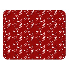 Red White Music Double Sided Flano Blanket (large)  by snowwhitegirl