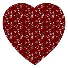 Burgundy Music Jigsaw Puzzle (heart) by snowwhitegirl