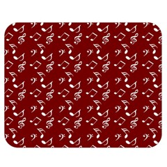 Burgundy Music Double Sided Flano Blanket (medium)