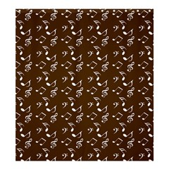 Brown Music Shower Curtain 66  X 72  (large)  by snowwhitegirl