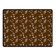 Brown Music Fleece Blanket (small) by snowwhitegirl