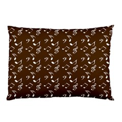 Brown Music Pillow Case (two Sides) by snowwhitegirl
