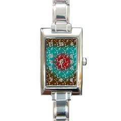 Teal Music Heart Music Rectangle Italian Charm Watch