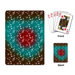 Teal Music Heart Music Playing Cards Single Design