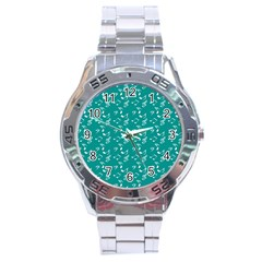 Teal Music Stainless Steel Analogue Watch by snowwhitegirl