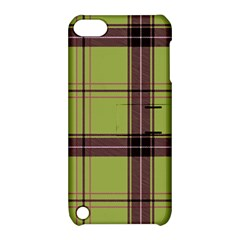 Avocado Green Plaid Apple Ipod Touch 5 Hardshell Case With Stand by snowwhitegirl