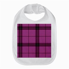 Violet Plaid Bib