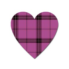 Violet Plaid Heart Magnet by snowwhitegirl