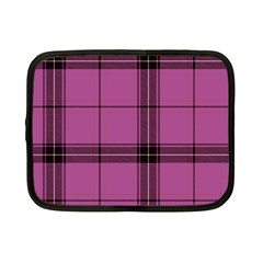 Violet Plaid Netbook Case (small)
