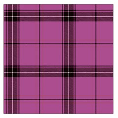 Violet Plaid Large Satin Scarf (square) by snowwhitegirl
