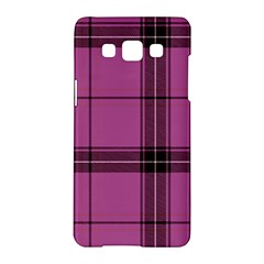 Violet Plaid Samsung Galaxy A5 Hardshell Case  by snowwhitegirl