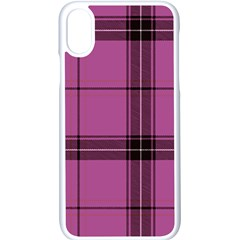 Violet Plaid Apple Iphone X Seamless Case (white) by snowwhitegirl