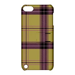 Beige Purple Plaid Apple Ipod Touch 5 Hardshell Case With Stand by snowwhitegirl
