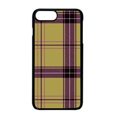 Beige Purple Plaid Apple Iphone 7 Plus Seamless Case (black) by snowwhitegirl