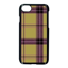 Beige Purple Plaid Apple Iphone 7 Seamless Case (black) by snowwhitegirl