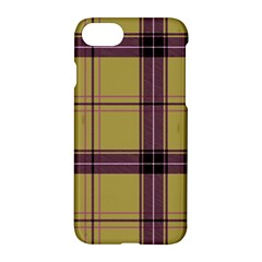 Beige Purple Plaid Apple Iphone 8 Hardshell Case by snowwhitegirl