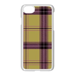 Beige Purple Plaid Apple Iphone 8 Seamless Case (white) by snowwhitegirl