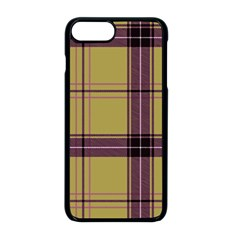 Beige Purple Plaid Apple Iphone 8 Plus Seamless Case (black) by snowwhitegirl