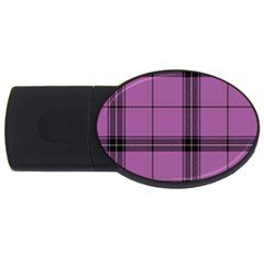 Lilac Plaid Usb Flash Drive Oval (4 Gb) by snowwhitegirl