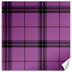 Lilac Plaid Canvas 20  X 20  by snowwhitegirl