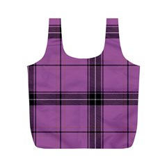 Lilac Plaid Full Print Recycle Bag (m) by snowwhitegirl