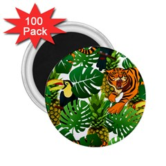 Tropical Pelican Tiger Jungle 2 25  Magnets (100 Pack)  by snowwhitegirl