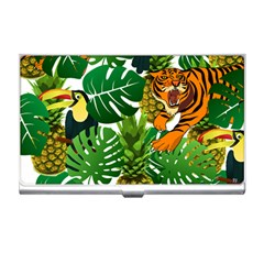 Tropical Pelican Tiger Jungle Business Card Holder by snowwhitegirl