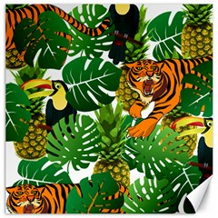 Tropical Pelican Tiger Jungle Canvas 12  X 12  by snowwhitegirl