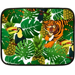 Tropical Pelican Tiger Jungle Double Sided Fleece Blanket (mini)