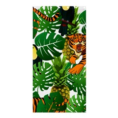 Tropical Pelican Tiger Jungle Shower Curtain 36  X 72  (stall)  by snowwhitegirl