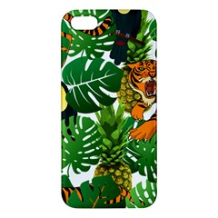 Tropical Pelican Tiger Jungle Apple Iphone 5 Premium Hardshell Case by snowwhitegirl