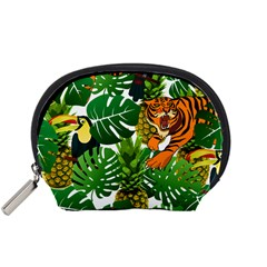 Tropical Pelican Tiger Jungle Accessory Pouch (small) by snowwhitegirl