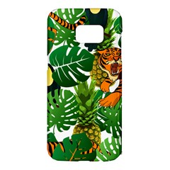 Tropical Pelican Tiger Jungle Samsung Galaxy S7 Edge Hardshell Case