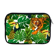 Tropical Pelican Tiger Jungle Apple Macbook Pro 17  Zipper Case by snowwhitegirl