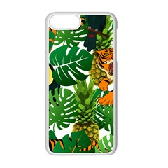 Tropical Pelican Tiger Jungle Apple Iphone 8 Plus Seamless Case (white)