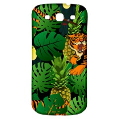 Tropical Pelican Tiger Jungle Black Samsung Galaxy S3 S Iii Classic Hardshell Back Case by snowwhitegirl