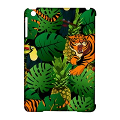 Tropical Pelican Tiger Jungle Black Apple Ipad Mini Hardshell Case (compatible With Smart Cover) by snowwhitegirl