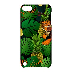 Tropical Pelican Tiger Jungle Black Apple Ipod Touch 5 Hardshell Case With Stand by snowwhitegirl