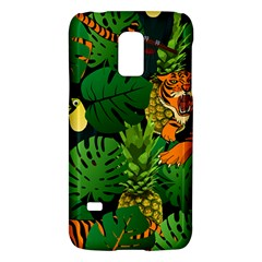 Tropical Pelican Tiger Jungle Black Samsung Galaxy S5 Mini Hardshell Case  by snowwhitegirl