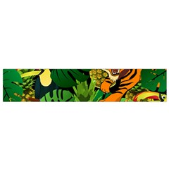 Tropical Pelican Tiger Jungle Black Small Flano Scarf by snowwhitegirl