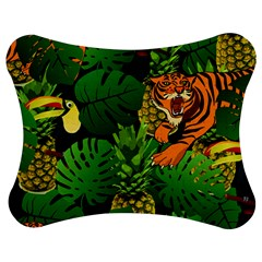 Tropical Pelican Tiger Jungle Black Jigsaw Puzzle Photo Stand (bow) by snowwhitegirl