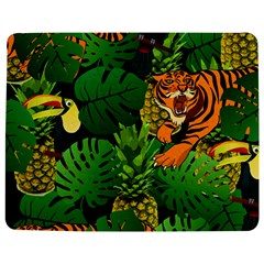 Tropical Pelican Tiger Jungle Black Jigsaw Puzzle Photo Stand (rectangular) by snowwhitegirl