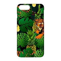 Tropical Pelican Tiger Jungle Black Apple Iphone 8 Plus Hardshell Case by snowwhitegirl