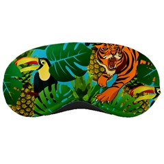 Tropical Pelican Tiger Jungle Blue Sleeping Masks by snowwhitegirl
