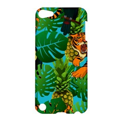 Tropical Pelican Tiger Jungle Blue Apple Ipod Touch 5 Hardshell Case by snowwhitegirl