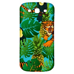 Tropical Pelican Tiger Jungle Blue Samsung Galaxy S3 S Iii Classic Hardshell Back Case by snowwhitegirl
