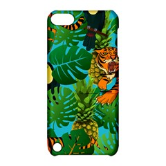 Tropical Pelican Tiger Jungle Blue Apple Ipod Touch 5 Hardshell Case With Stand by snowwhitegirl