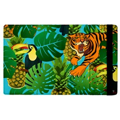Tropical Pelican Tiger Jungle Blue Apple Ipad Pro 9 7   Flip Case by snowwhitegirl